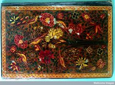 Qajar Persian lacquer binding , 12th/18th Centuries. Welcome Library, LOO18573