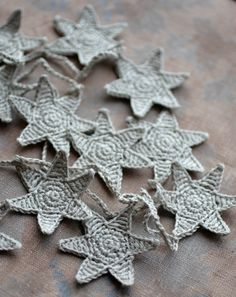 Crochet Garland  Wall Hanging  Small Bunting  Stars by namolio, £15.64