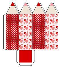 Discover thousands of images about Eu Amo Artesanato: Caixinhas com moldes - mon site Paper Box Template, Box Templates, Diy And Crafts, Crafts For Kids, Printable Box, Printables, Diy Gift Box, Origami Box, Pencil Boxes