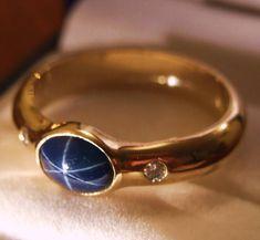 Star sapphire wedding ring 2 by on DeviantArt Saphire Ring, Star Sapphire Ring, Sapphire Wedding Rings, Sapphire Gemstone, Cool Wedding Rings, Wedding Ring Designs, Wedding Bands, Wedding Ideas, Emerald Ring Vintage