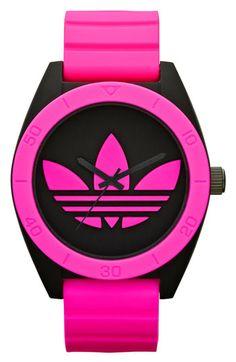adidas Originals Santiago XL Neon Accent Watch, 50mm | Nordstrom