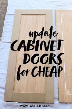 Shaker Style Cabinet Doors, Kitchen Cabinet Doors, Cabinet Door Styles, Kitchen Cupboards, Cabinet Hardware, Kitchen Storage, Kitchen Appliances, Kitchen Cabinets On A Budget, Kitchen Countertops