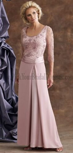 Customize Your Own Mother Of The Groom Dresses Beige Royal Blue Lace Satin 34 Length Sleeves Online Wedding Party Dresses (would not wear this color and would like it in tea length) Wedding Dresses Plus Size, Modest Wedding Dresses, Wedding Party Dresses, Bridal Dresses, Mob Dresses, Gala Dresses, Evening Dresses, Dresses With Sleeves, Mother Of The Groom Gowns
