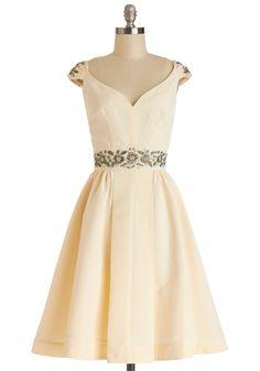 Shindig by the Skyline Dress in Ivory | Mod Retro Vintage Dresses | ModCloth.com