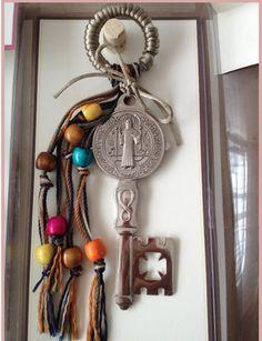 Bendición de la Puerta - Casa o Negocio - Llave de San Benito - Color Plata