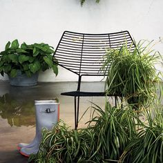 Painted pre-galvanized metal for outdoor use #chair #garden #design