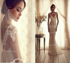 Buy wholesale  2014 new arrival vintage lace mermaid wedding dresses v neck court train sash bow garden cap sleeves backless bridal gown bo2220 which is at a discount now. one-stopos has guaranteed its quality. a mermaid wedding dress, beautiful lace mermaid wedding dresses and glamorous mermaid wedding dresses are all in the list of superb dresses.