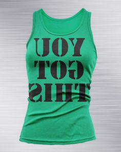 You Got This Backward Mirrored Women's Tank Top Black by JustScott, $13.99