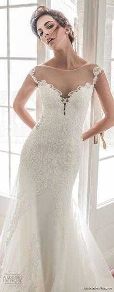 alessandra rinaudo 2018 bridal cap sleeves illusion bateau sweetheart neckline heavily embellished bodice elegant fit and flare mermaid wedding dress sheer lace back chapel train (31) zv