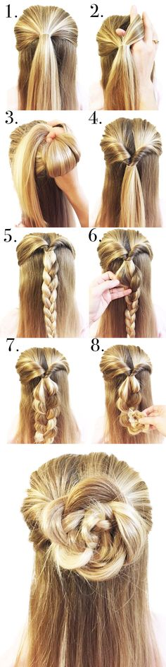 The Braided Rose Hair How To