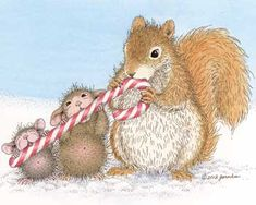 """Sending you treats & sweets this holiday."" from House-Mouse Designs"