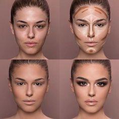 Schminktips – – Makeup Ideas – Make Up for Beginners & Make Up Tutorial Highlighter Makeup, Contour Makeup, Skin Makeup, Makeup Brushes, Highlighting Contouring, Eyelashes Makeup, Fake Eyelashes, Makeup Remover, Flawless Face Makeup