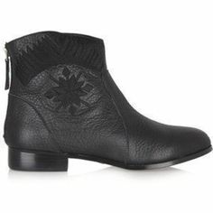 Street by Cynthia Vincent Goldie embroidered leather ankle boots Discount Designer Clothes, Leather Ankle Boots, Clothes For Sale, Travel Style, Cowboy Boots, High Fashion, Trunks, How To Wear, Shopping