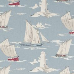 Clarke & Clarke Skipper Mineral Vintage Shabby Chic Designer Curtain Fabric Sold by The Metre Pvc Fabric, Fabric Decor, Fabric Design, Blue Fabric, Fabric Crafts, Curtain Material, Curtain Fabric, Pvc Material, Clarke And Clarke Fabric