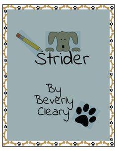 Strider Teaching Novel Unit ~ Common Core Standards Aligned!