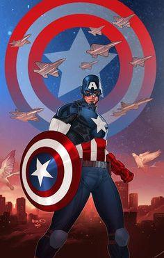 #CaptainAmerica by Paul Renaud.