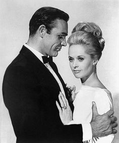 "Sean Connery and Tippi Hedren in a publicity photo for ""Marnie"", 1964."
