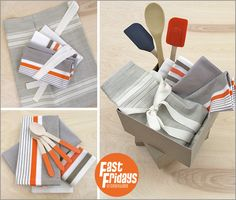 Fast Fridays: Napkin & Apron Set in Moda Toweling | Sew4Home