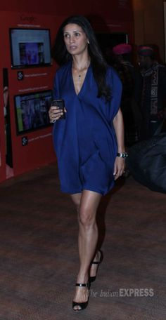 Former model Mehr Rampal showed off her sexy legs in a blue mini