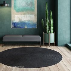 Round Outdoor Rug, Indoor Outdoor Rugs, Outdoor Living, How To Make Curtains, Made To Measure Curtains, Teal Rug, Grey Rugs, Circular Rugs, Rug Shapes