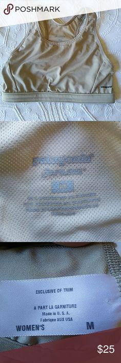 Patagonia Medium sports bra good condition. Patagonia Medium sports bra khaki color.racer back. Patagonia Intimates & Sleepwear Bras