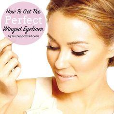 How to get Lauren Conrad's perfect winged eyeliner.