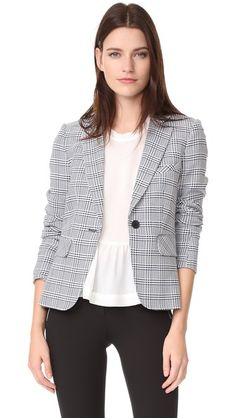 Veronica Beard Leo Long Sleeve Schoolboy Jacket