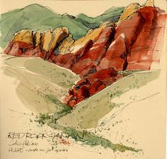 Red Rock Canyon by Cathy Johnson. Artists' Journal Workshop - expanding on the book. I have her book and love it.