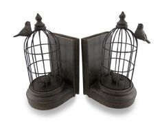 Antique Bronze Finish Bird Cage Bookends Set of 2 Things2Die4 http://www.amazon.com/dp/B00IMJXAFI/ref=cm_sw_r_pi_dp_Q4-7tb0GGN3G9