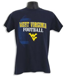 TSWU02N3 T-Shirt WVU Football PIGSKIN - NAVY