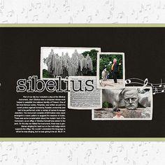 Sibelius (r) -- #designerdigitals #scrapbooking #vacation #travel #helsinki #finland #music