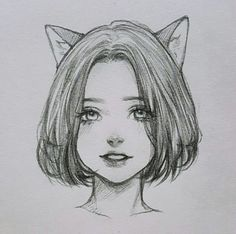 Pretty drawings, beautiful drawings, easy drawings, drawing tips, pencil . Girl Face Drawing, Illustration Art Drawing, Anime Drawings Sketches, Pencil Art Drawings, Realistic Drawings, Easy Drawings, Drawing Art, Sketch Girl Face, Drawing Tips