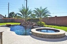 Small pool with hot tub outdoor space pinterest for Small hot tubs for small spaces