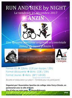 bike and run by night Anzin