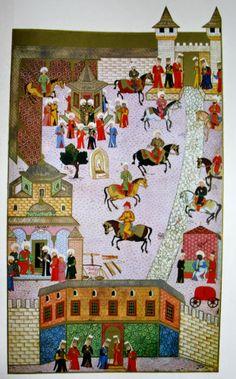 Hünername'de yer alan Molla Tiflisi çizimi ile Topkapı sarayında Bab-ı hümayun ile Bab-ı saadet arasındaki birinci avlu ve bu avluda bulunan bazı binalar minyatürü.