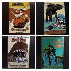 Star Wars Crossover Disney Attractions Poster Set of 4 [free ship] Disney Pins For Sale, Crossover, Attraction, Star Wars, Free Shipping, Stars, Awesome, Poster, Starwars