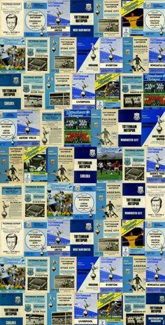 Spurs Vintage Programmes mural (CSWTHF00162-2) - SportsWalls Murals - A spectacular montage of vintage Tottenham Hotspur Football Club programmes.