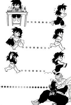 Piccolo & Gohan (Scan) Piece from Dragon Ball doujinshi うらら (孫悟空、孫悟飯、ピッコロ) / A5/60p - 1992/04/05