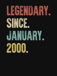 'Retro Vintage Birthday Legendary Since January T-Shirt by DutchTees Happy Birthday Nephew Funny, Guys 21st Birthday, 75th Birthday Parties, Birthday Fun, 30th Birthday Ideas For Men, Birthday Celebration, Gay Pride, Birthday Design, You Are The Father