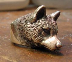 Finally cast. The wolf ring. Side view.     Twilight jewelry, Wolf jewelry