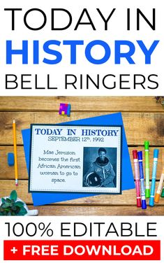 Do you use bell ringers in your social studies class? Today in history bell ringers are a fantastic way to start your social studies classes because they help engage your students from the minute they enter your classroom!