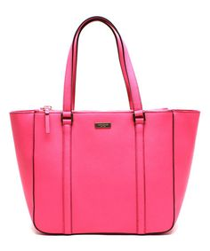 Another great find on #zulily! Bazooka Pink Newbury Lane Briar Leather Tote by Kate Spade #zulilyfinds