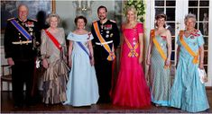 King Harald and Queen Sonja are wearing the highest Dutch order available to…