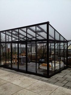 lean to Garden room *** - gardenroom Lean To Greenhouse, Small Terrace, Dome House, Deck With Pergola, Garden Office, Forest House, Contemporary Garden, Glass House, Future House