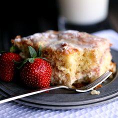 Strawberries and Cream Coffee Cake - Melanie Makes