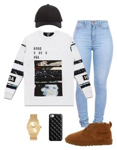 """hba"" by stephuzumaki ❤ liked on Polyvore featuring UGG Australia, Acne Studios, Hood by Air, Nixon and Case-Mate"