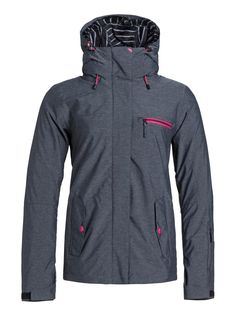 roxy, Jetty 3N1 Snowboard Jacket, Anthracite (kvj0)
