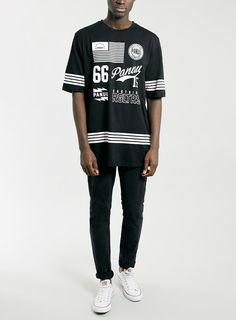 Panuu Jet T-Shirt* - Print & Patterned T-Shirts - Men's T-Shirts & Vests - Clothing T Shirt Vest, Men Shirt, Mens Tees, Black And White Prints, Spirit Wear, Ladies Tops, Men's Fashion, Fashion Trends, Case Study