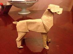 origami boxer dog - Google Search