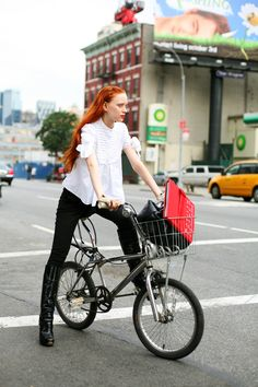 biking     (I want the outfit!)
